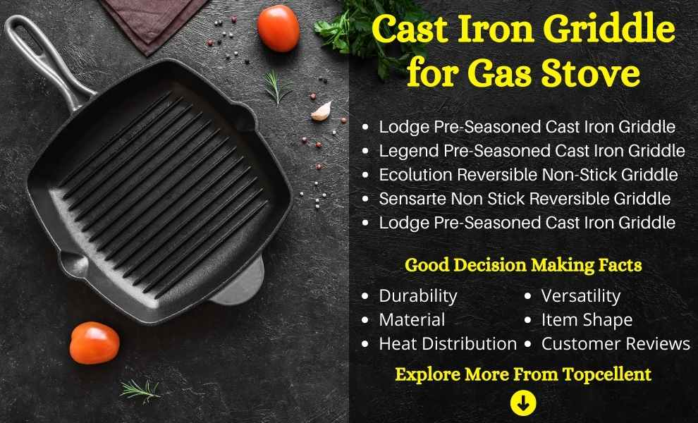 best cast iron griddle for gas stove