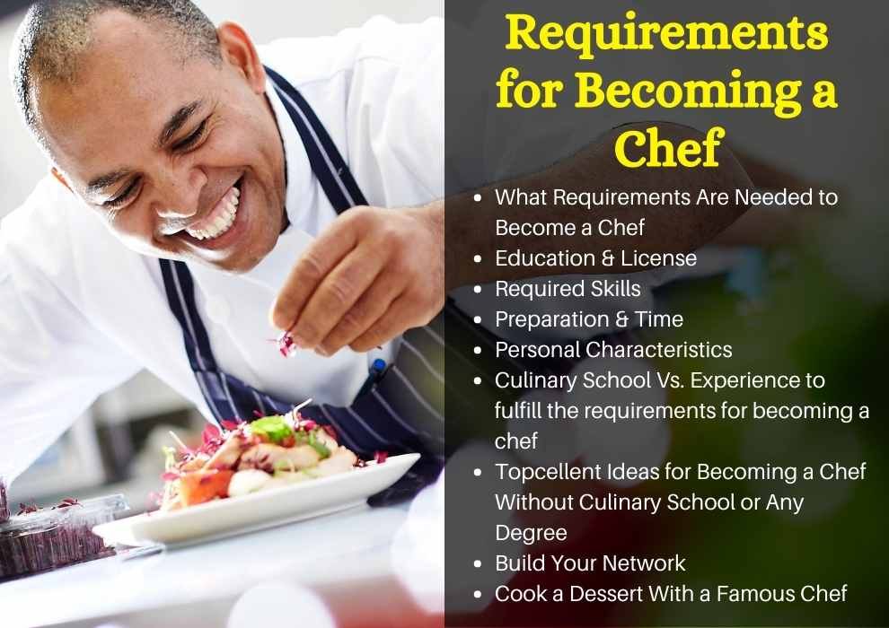 Requirements for Becoming a Chef