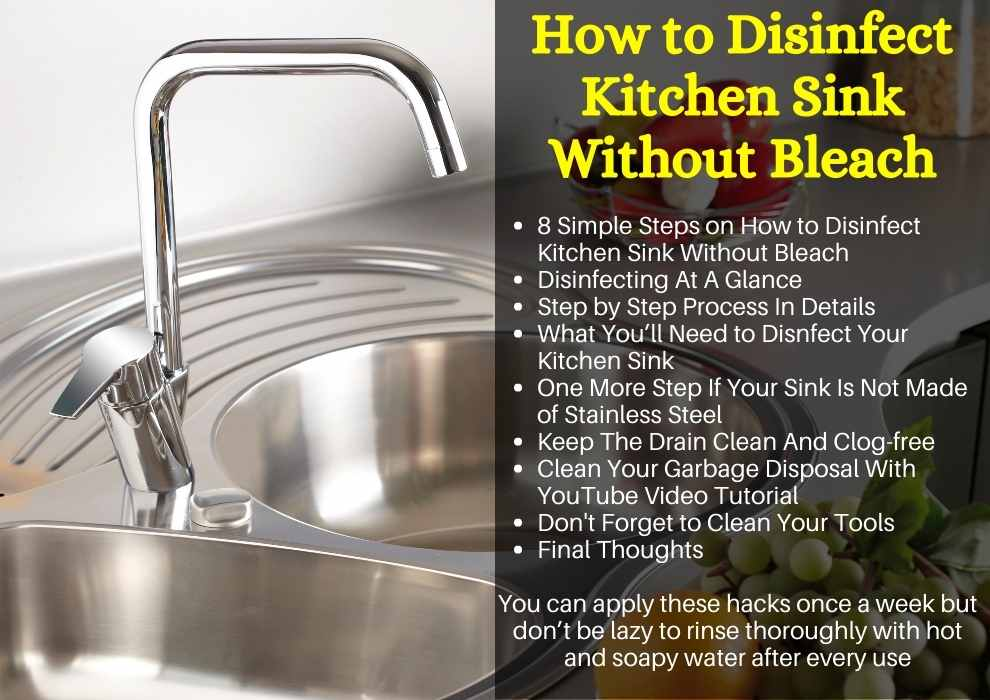How to Disinfect Kitchen Sink Without Bleach