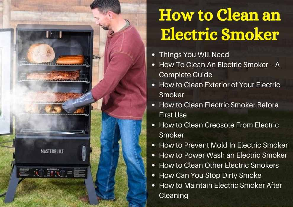 How to Clean an Electric Smoker