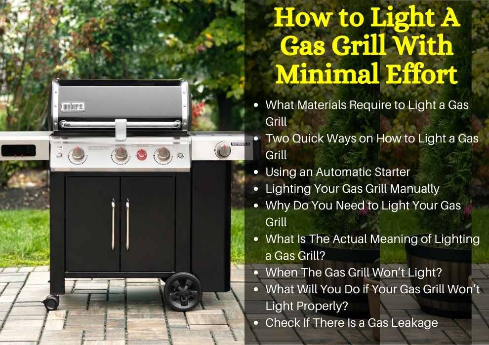 How to Light A Gas Grill