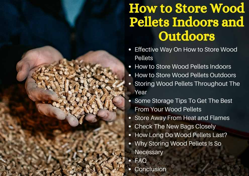 how to store wood pellets