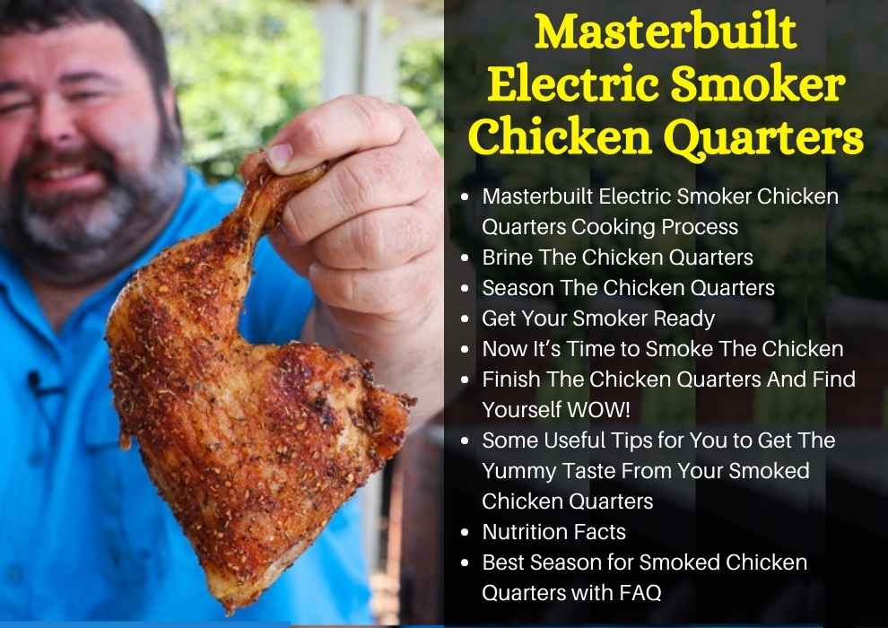 masterbuilt electric smoker chicken quarters