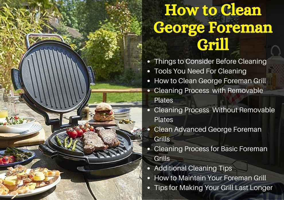 how to clean george foreman grill