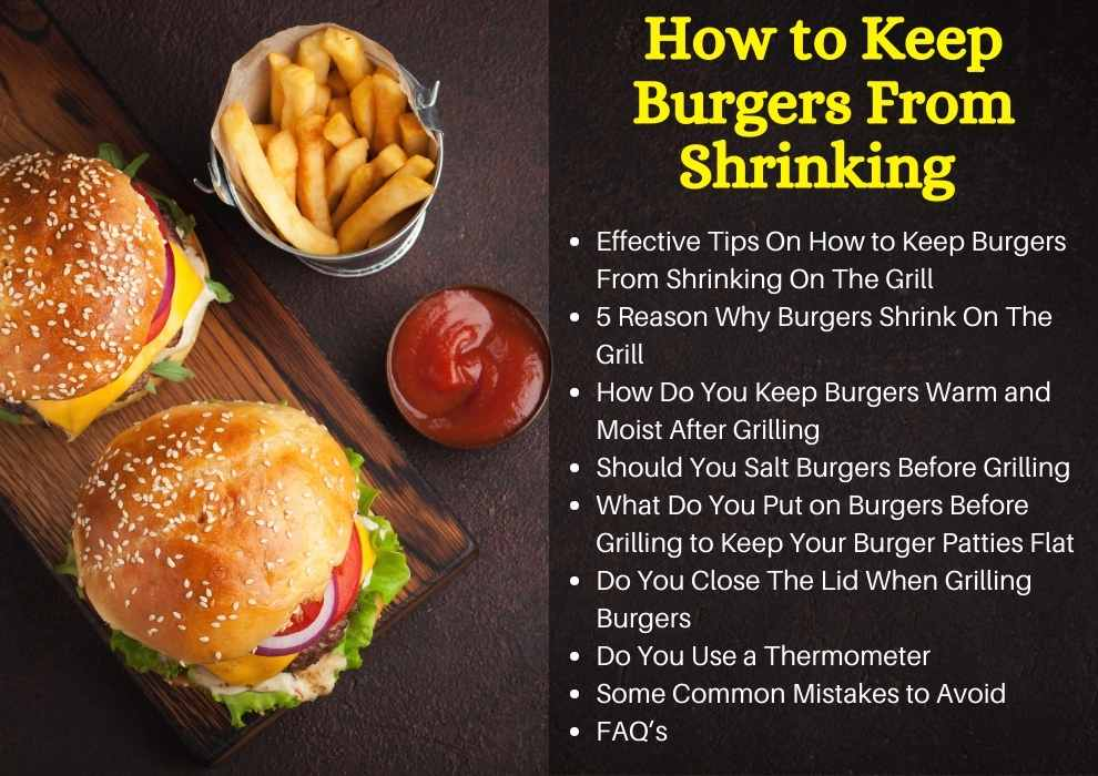 how to keep burgers from shrinking on the grill