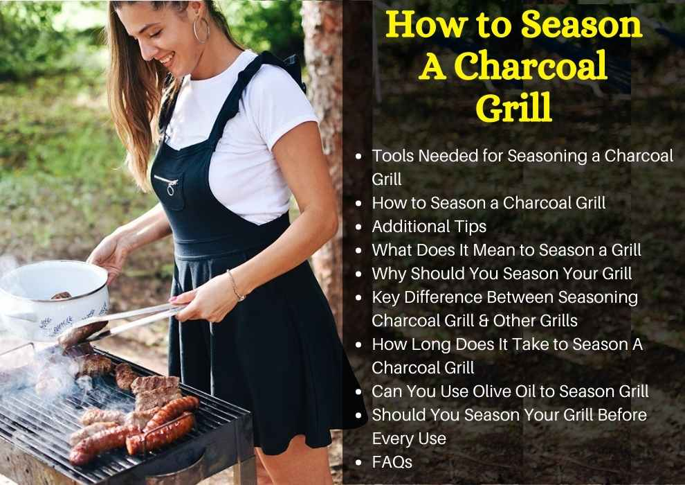 how to season a charcoal grill