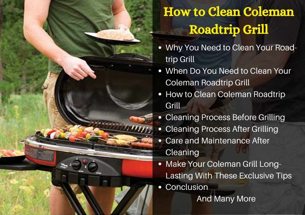 how to clean coleman roadtrip grill