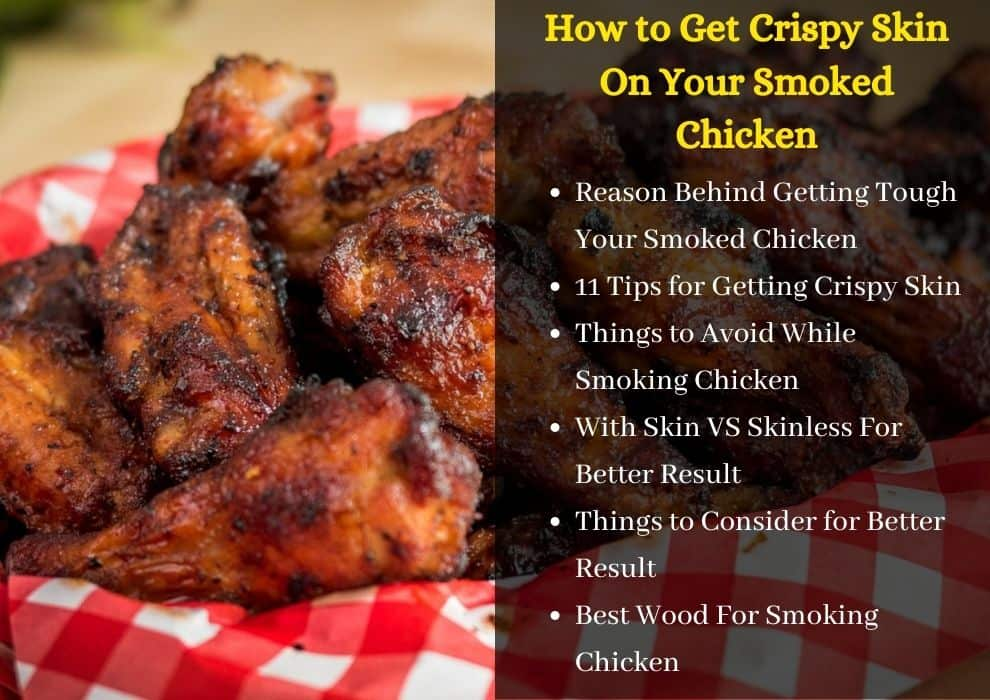 how to get crispy skin on smoked chicken
