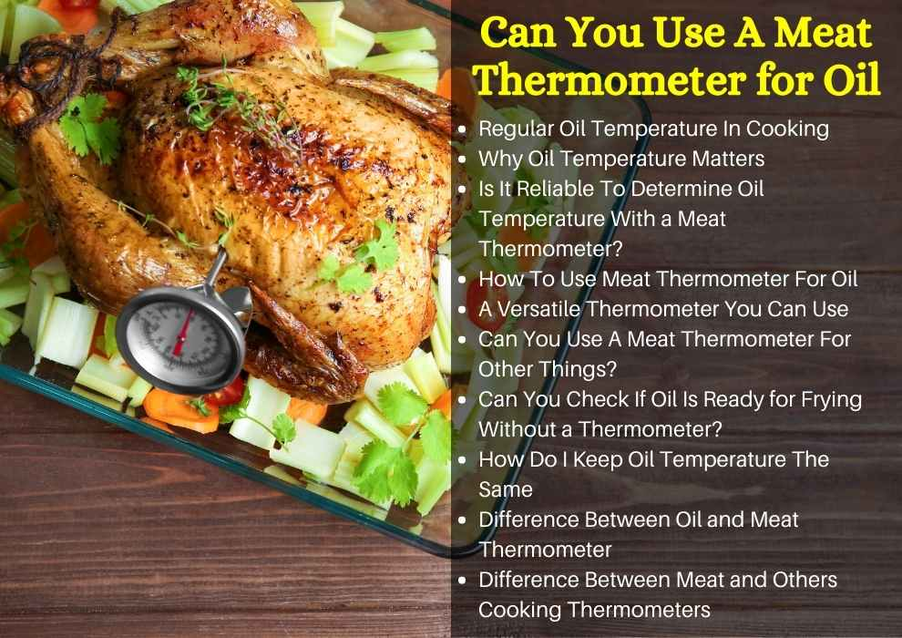 can you use a meat thermometer for oil