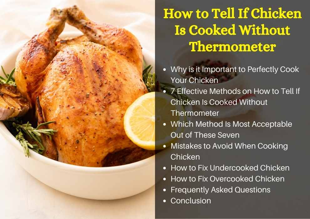 How to Tell If Chicken Is Cooked Without Thermometer
