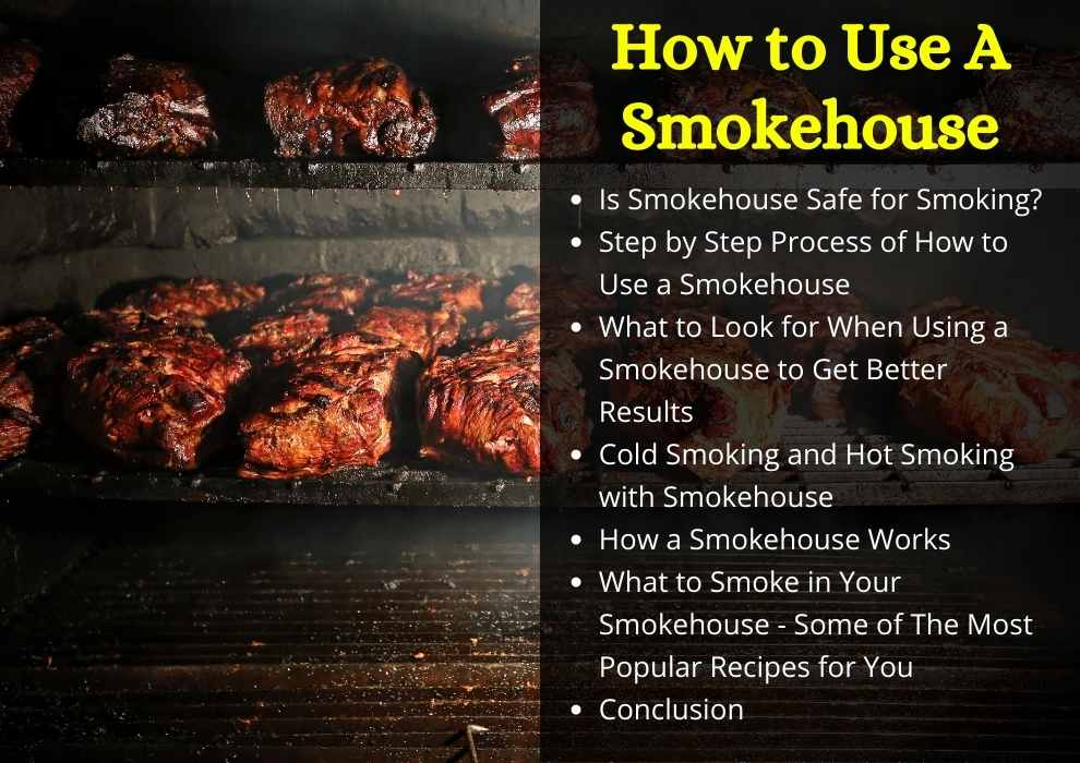 how to use a smokehouse