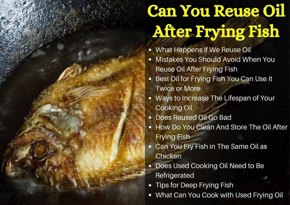 can you reuse oil after frying fish