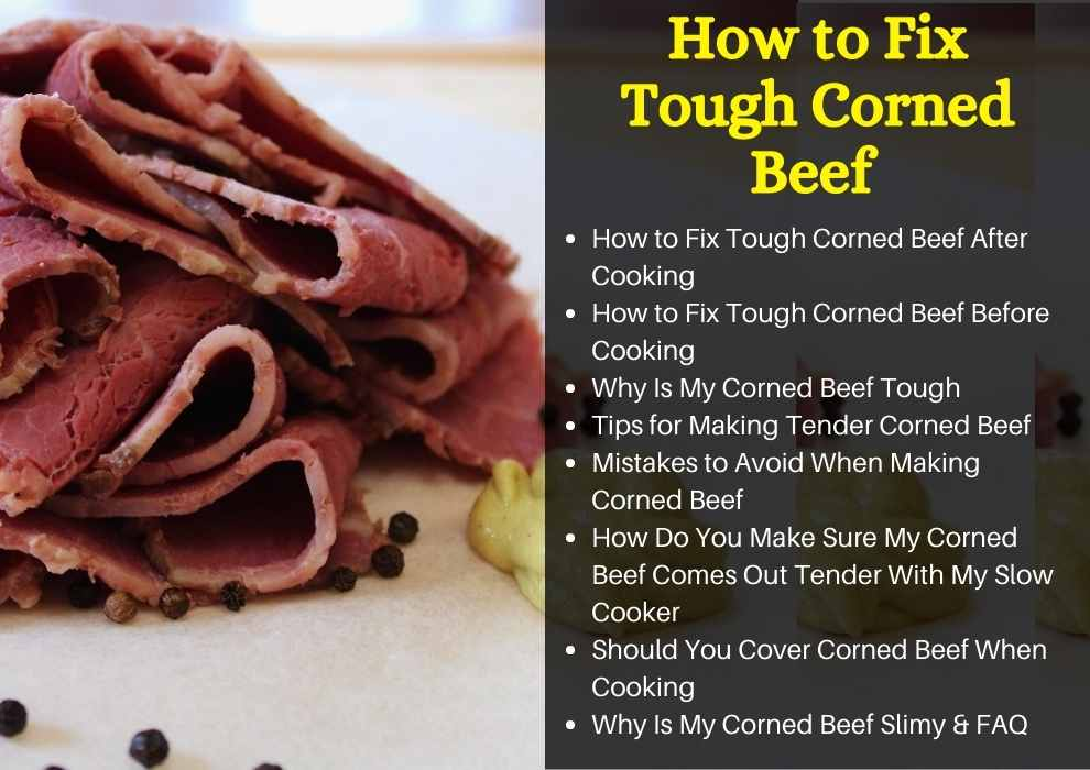 how to fix tough corned beef
