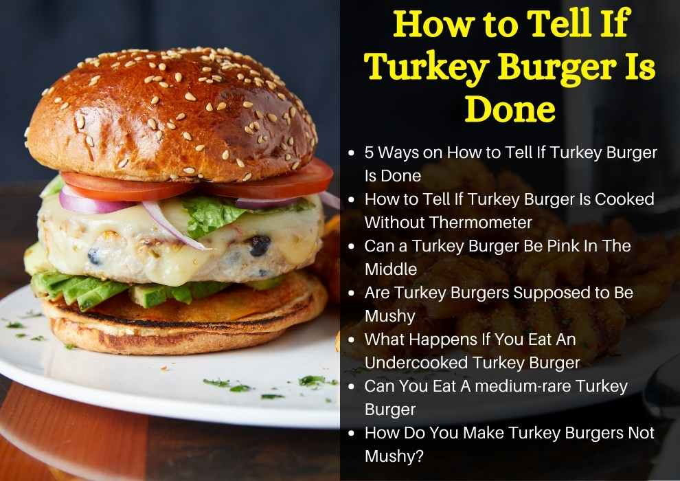 how to tell if turkey burger is done