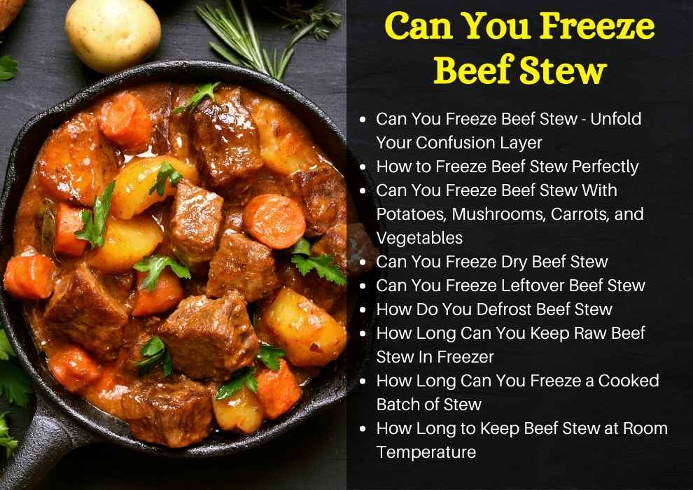 can you freeze beef stew
