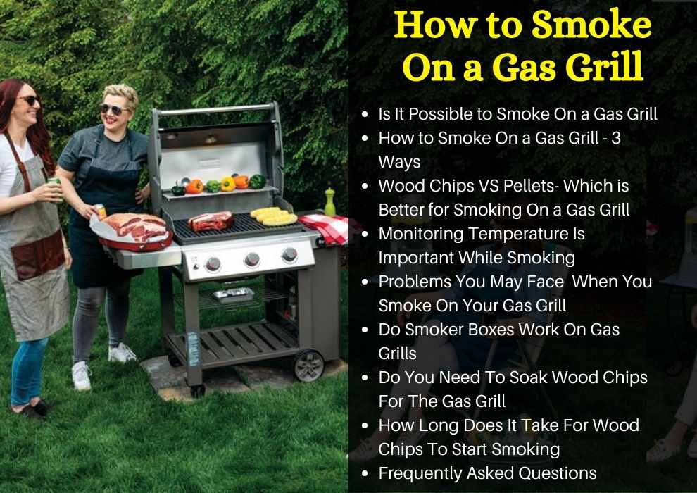 how to smoke on gas grill