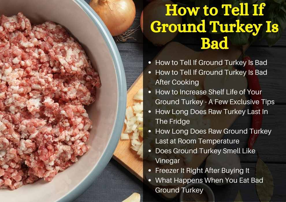 how to tell if ground turkey is bad