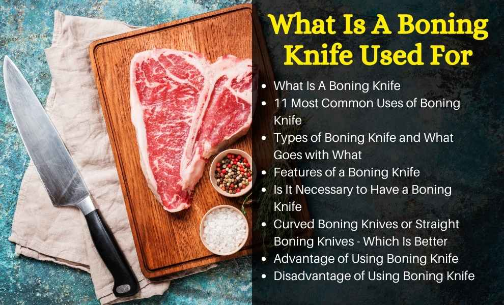 what is a boning knife used for